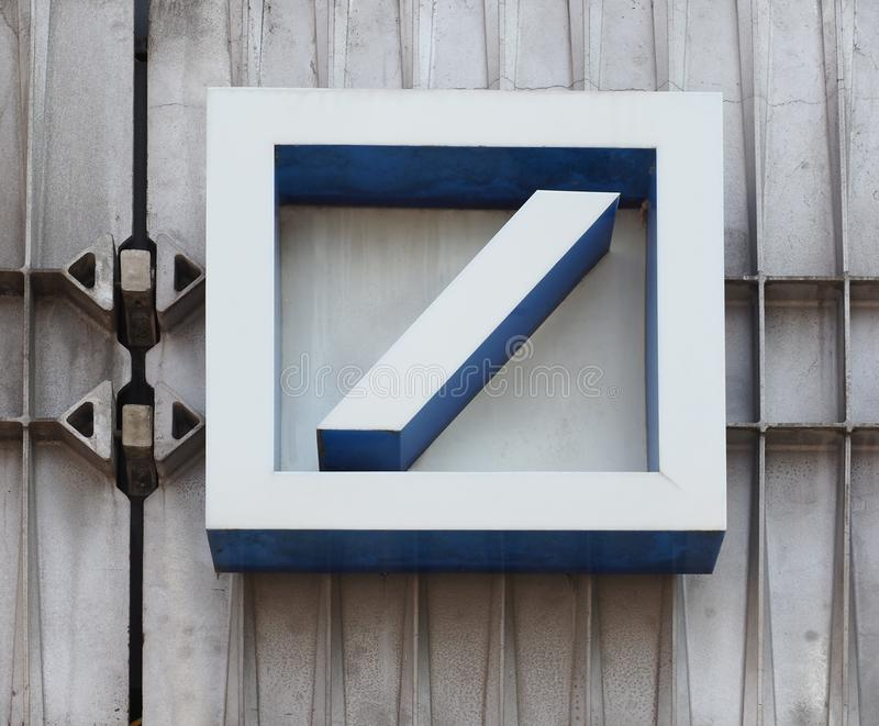 AACHEN - AUG 2019: Deutsche Bank sign stock photos
