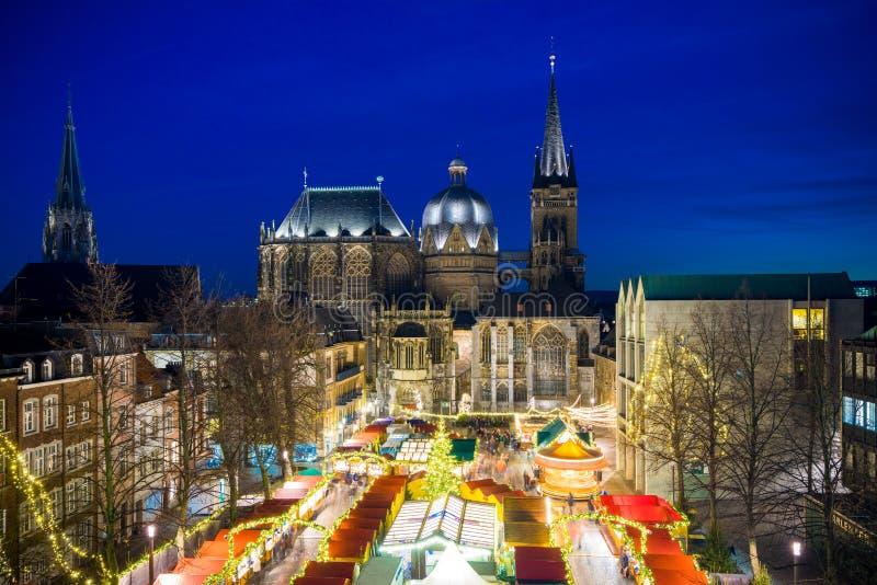 Aachen Christmas Market royalty free stock photo