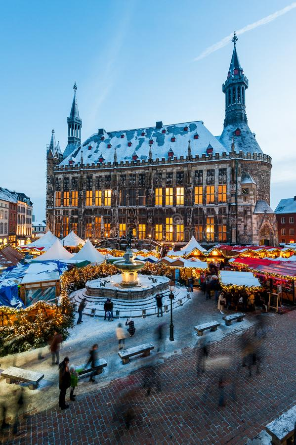 Aachen Christmas Market royalty free stock photography