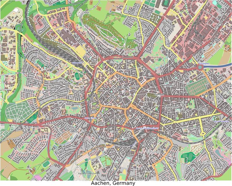 Aachen Germany Europe Hi Res Aerial View Stock Illustration