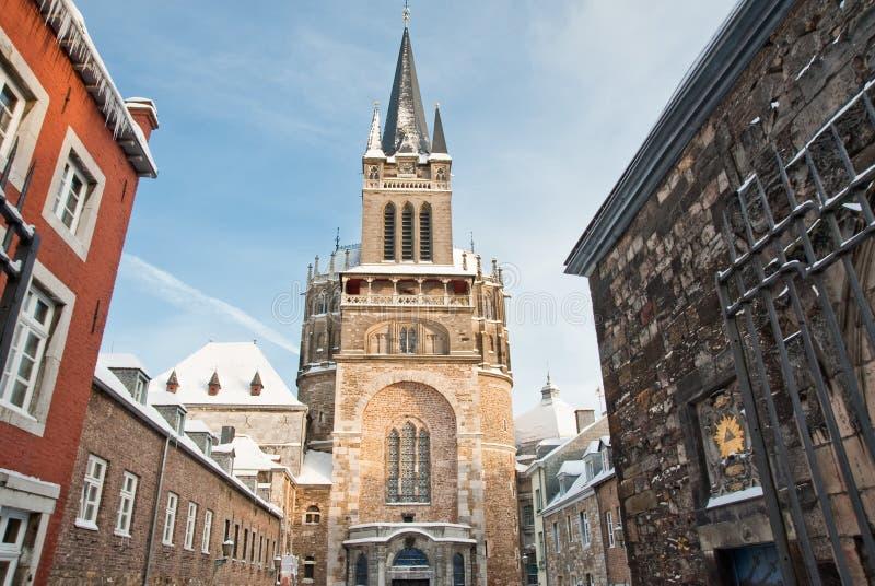 aachen katedra obrazy stock