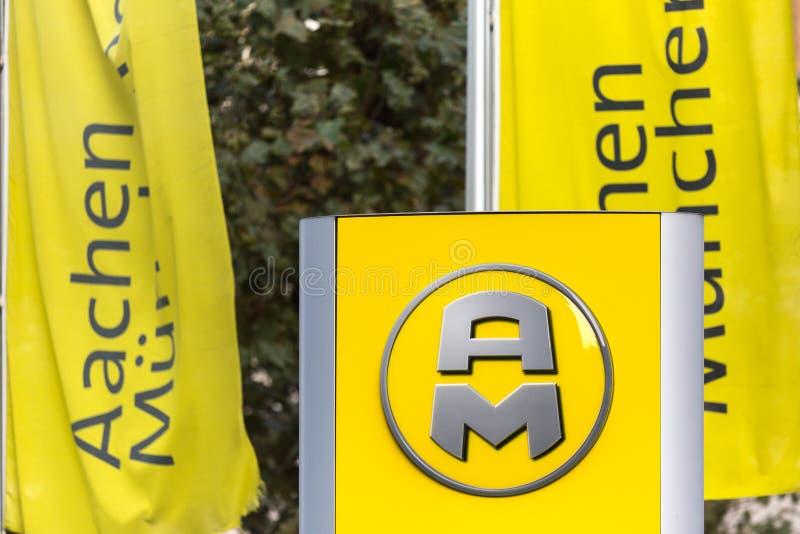 Aachen, Nordrhein-Westfalen/Deutschland - 06 11 18: aachener mà ¼ nchener unterzeichnen herein Aachen Deutschland lizenzfreie stockfotos