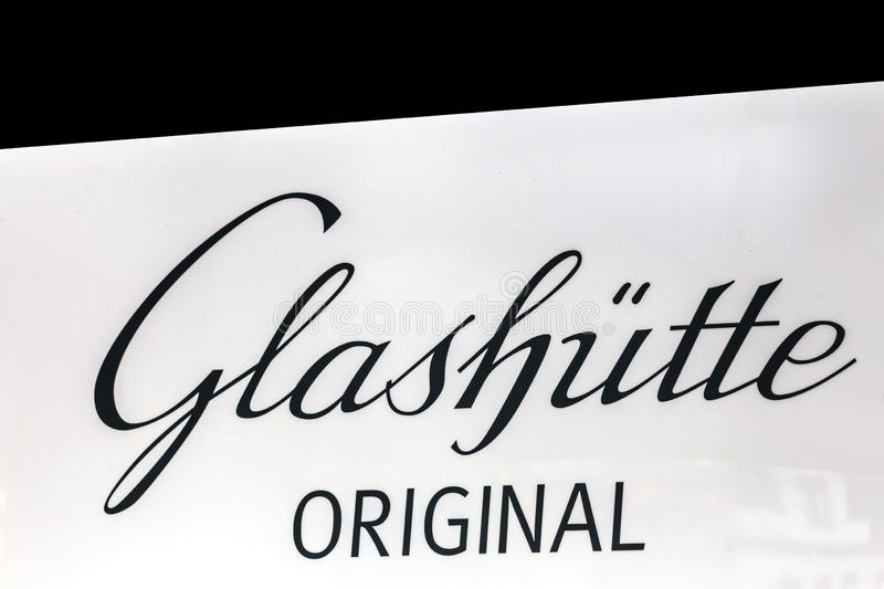 Glashütte sign in aachen germany. Aachen, North Rhine-Westphalia/germany - 06 11 18: glashütte sign in aachen germany royalty free stock images