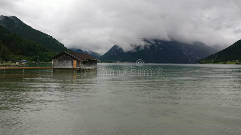 Aachensee lake stock image