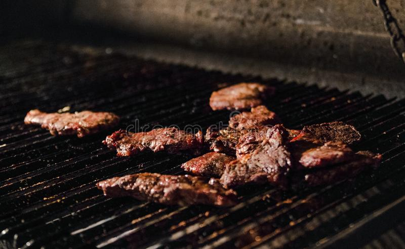 Aado argentino / barbecue a Buenos Aires fotografia stock