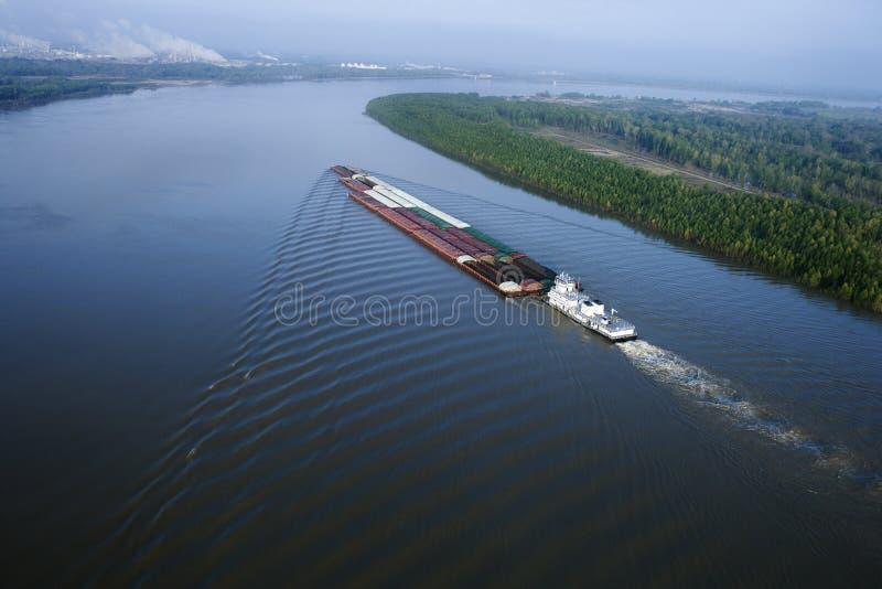 Aak op de Mississippi. stock afbeeldingen
