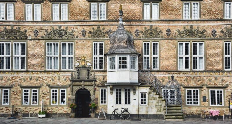 Aalborg, Denemarken, het Huis van Jens Bang's royalty-vrije stock afbeelding