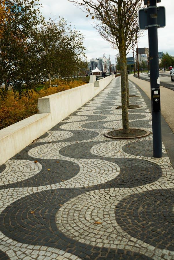 AALBORG, DENMARK: Aalborg`s waterfront has recently undergone a thorough renovation. Denmark royalty free stock photos