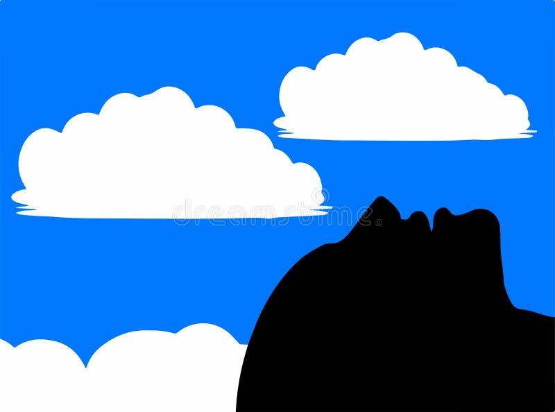 Aalen im sonnen- Himmel-Gaffer - Daydreamer vektor abbildung