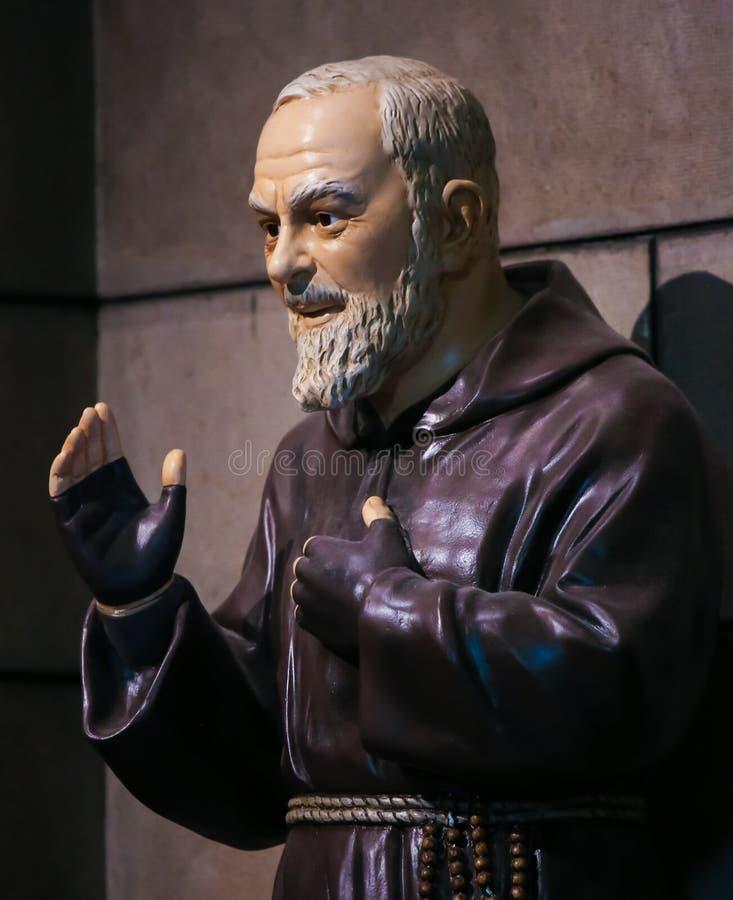 Aalmoezenier Pio, als Heilige Pio van Pietrelcina ook wordt bekend die royalty-vrije stock afbeelding
