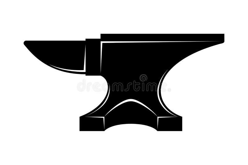Aambeeld zwart grafisch teken vector illustratie