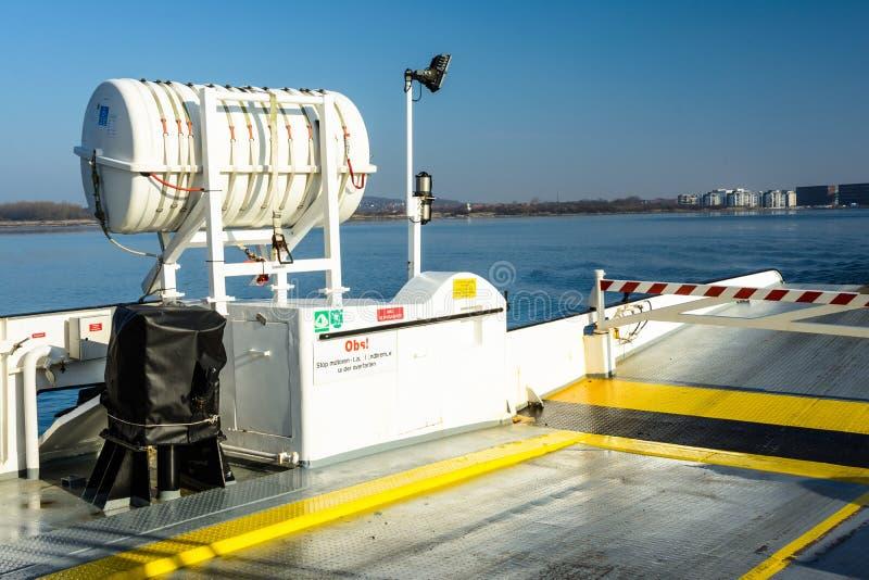 Aan boord van de veerboot aan Egholm, Aalborg royalty-vrije stock afbeeldingen