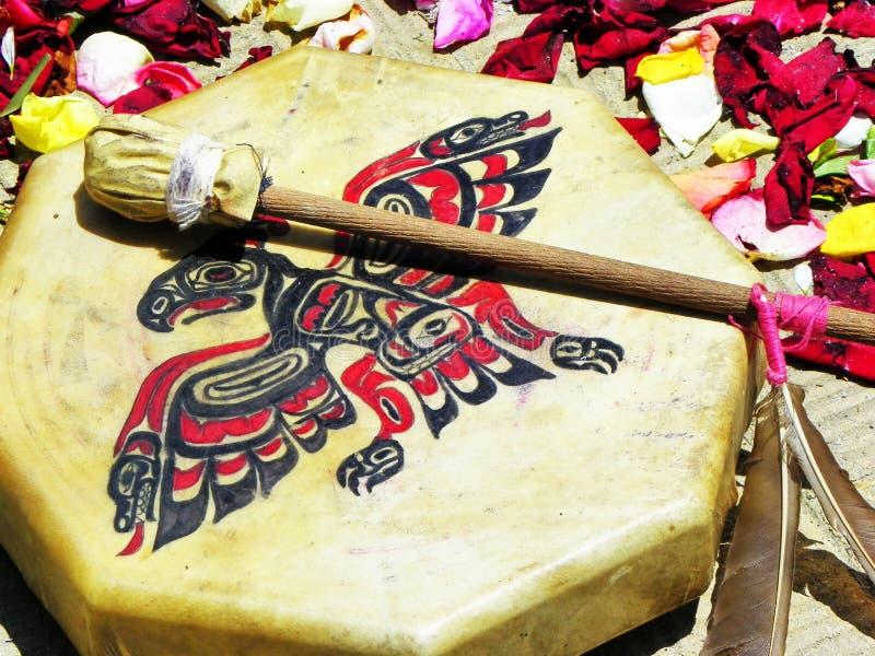 Aan Chacana ritual aborigen de la población indígena de los Andes centrales, Ecuador imágenes de archivo libres de regalías