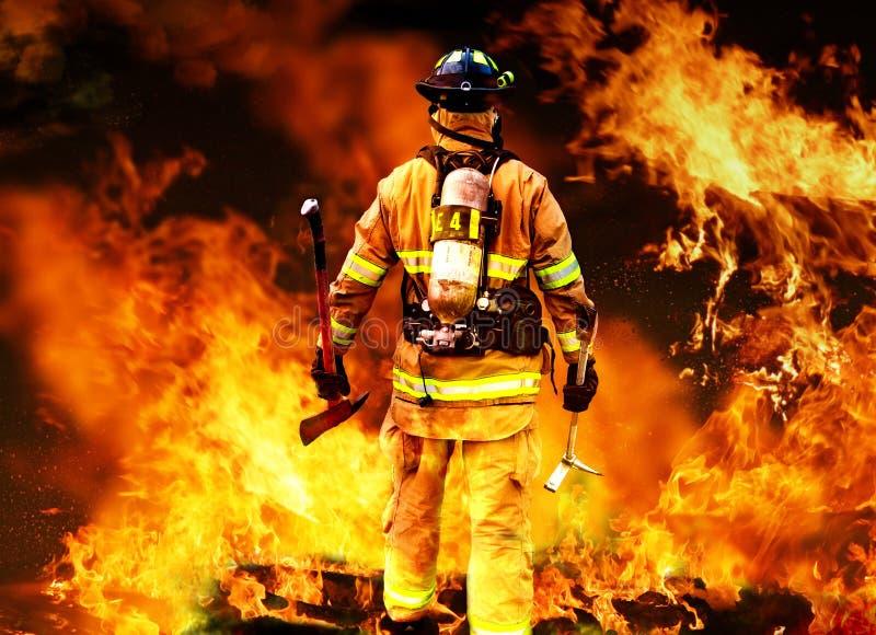 In aan de brand stock afbeeldingen