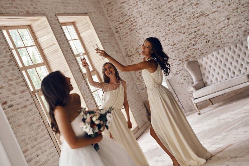 Aan de bruid! royalty-vrije stock afbeeldingen