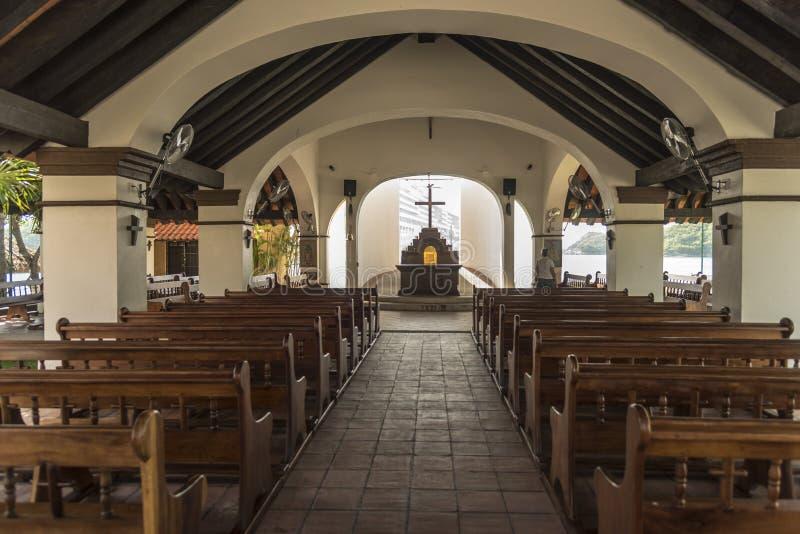 Aan de zijkant geopende kapel in Huatulco royalty-vrije stock fotografie