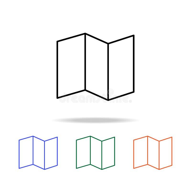 aan het licht gebracht document pictogram Elementen van eenvoudig Webpictogram in multikleur Grafisch het ontwerppictogram van de vector illustratie