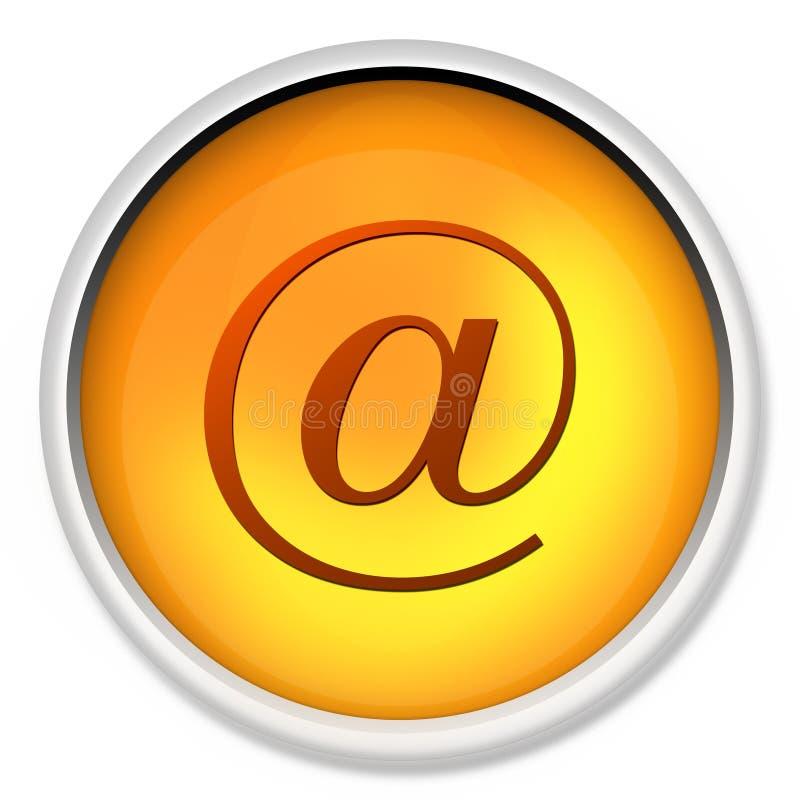 Aan het tarief, @, illustratie, bij, Web, breed, wereld, bij pari, computersleutel, sleutel, knoop, aansluting, c. vector illustratie