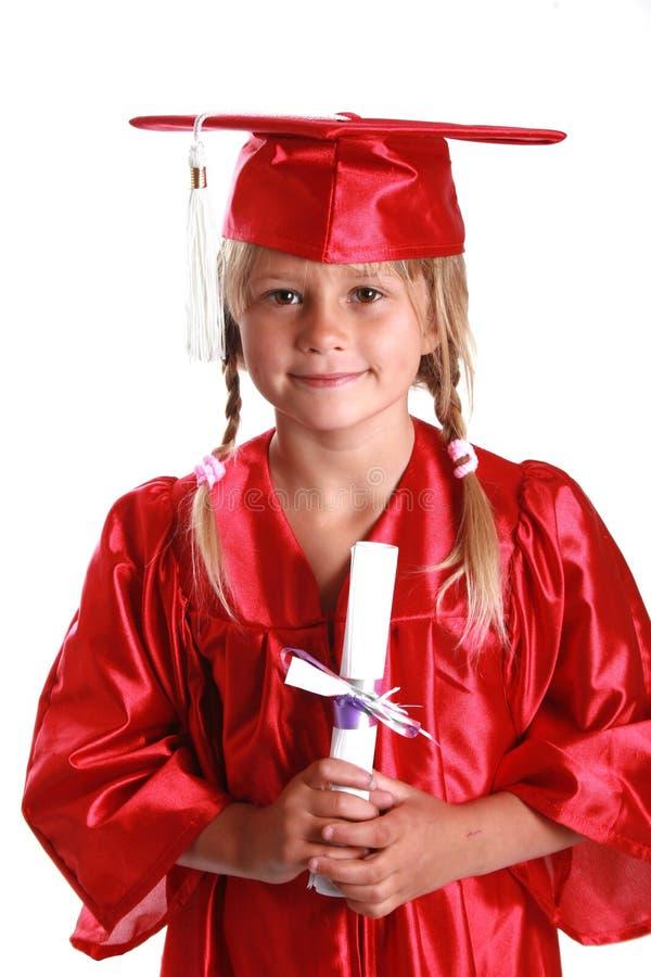 Aanbiddelijk graduatiejong geitje stock foto's