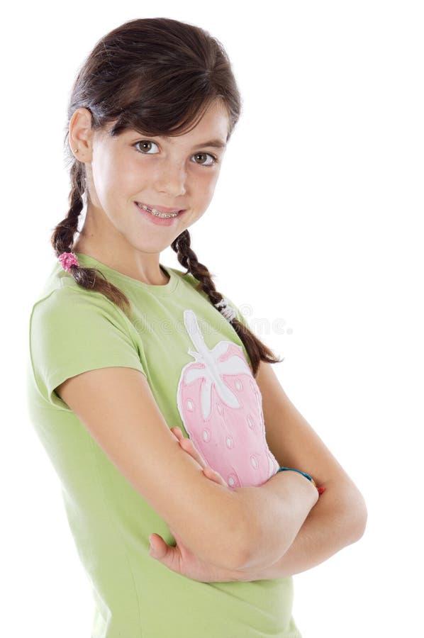 Aanbiddelijk toevallig meisje stock fotografie