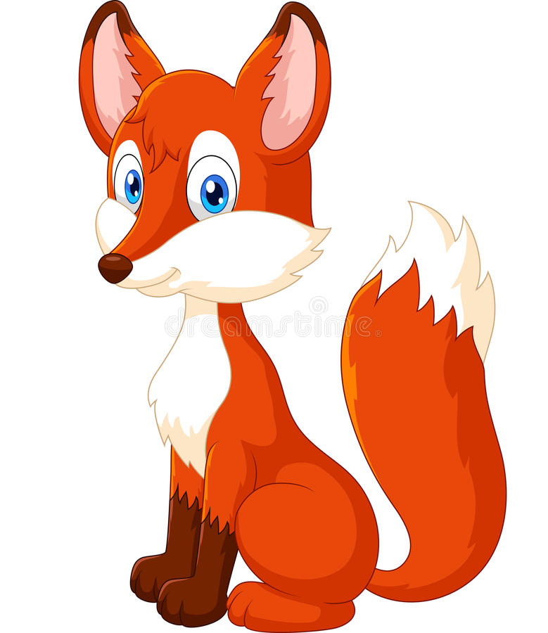 Aanbiddelijk vosbeeldverhaal royalty-vrije illustratie