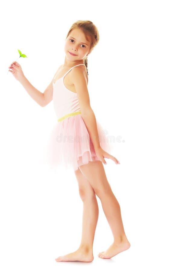 Aanbiddelijk weinig ballerina royalty-vrije stock afbeelding