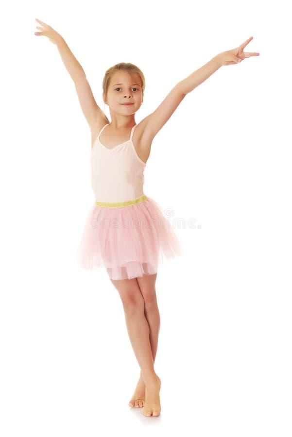 Aanbiddelijk weinig ballerina stock foto's