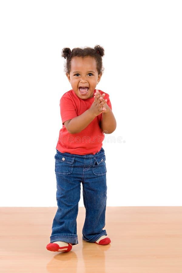 Aanbiddelijke Afrikaanse baby royalty-vrije stock foto's