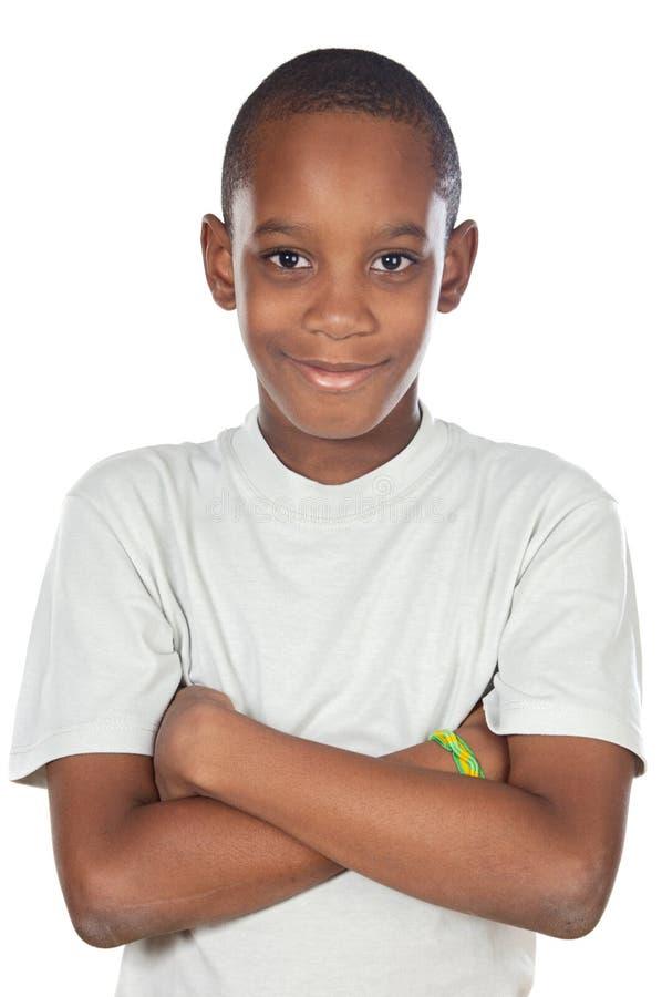 Aanbiddelijke Afrikaanse jongen stock afbeeldingen