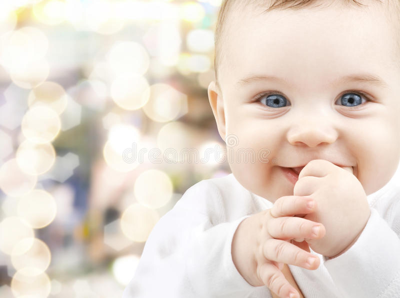 Aanbiddelijke baby stock afbeeldingen