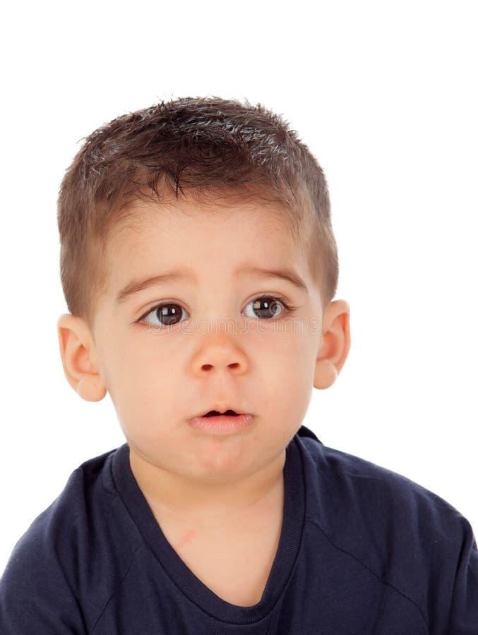 Aanbiddelijke baby negen maanden stock afbeeldingen