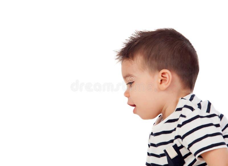 Aanbiddelijke baby negen maanden royalty-vrije stock afbeelding