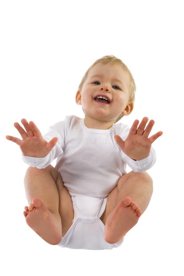 Aanbiddelijke babyjongen stock afbeelding