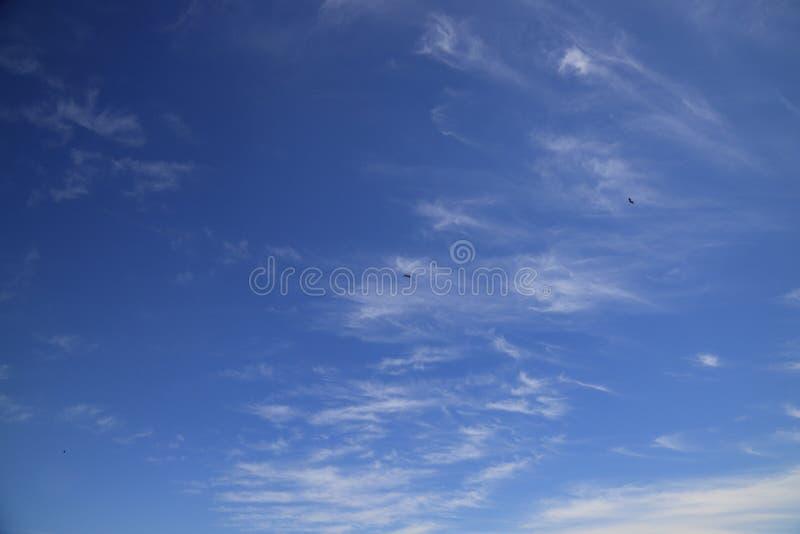 Aanbiddelijke blauwe hemel in Santo Angelo, RS Brazilië stock foto