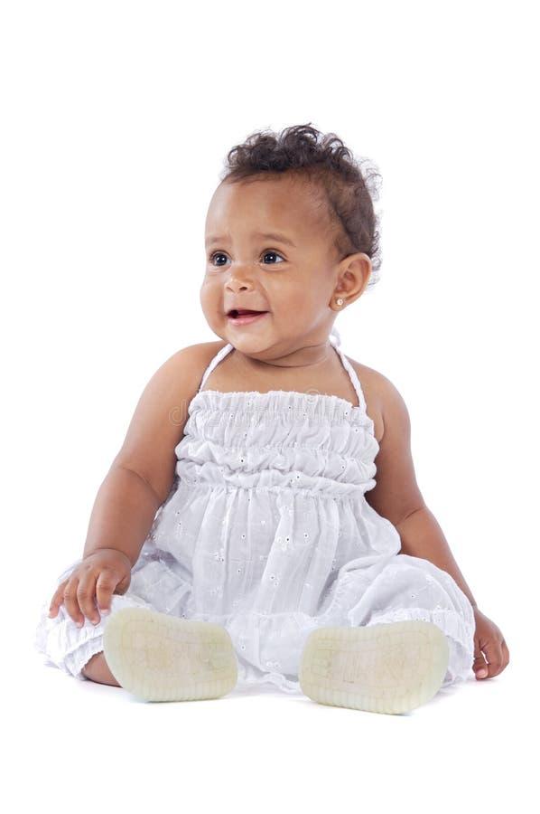 Aanbiddelijke gelukkige baby stock foto