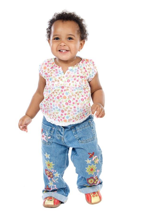 Aanbiddelijke gelukkige baby stock foto's