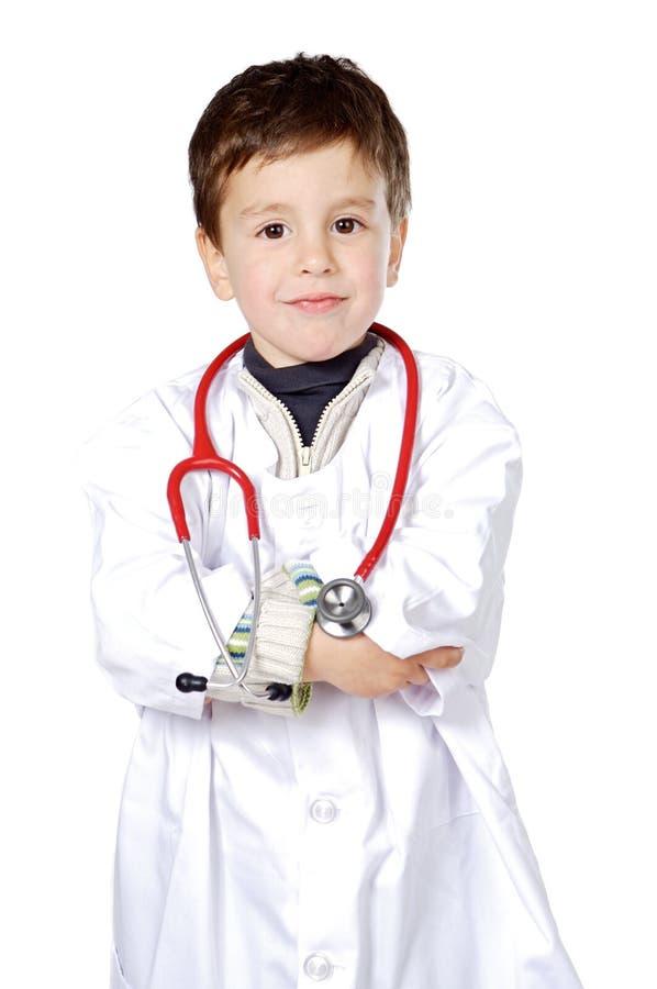 Aanbiddelijke toekomstige arts royalty-vrije stock foto