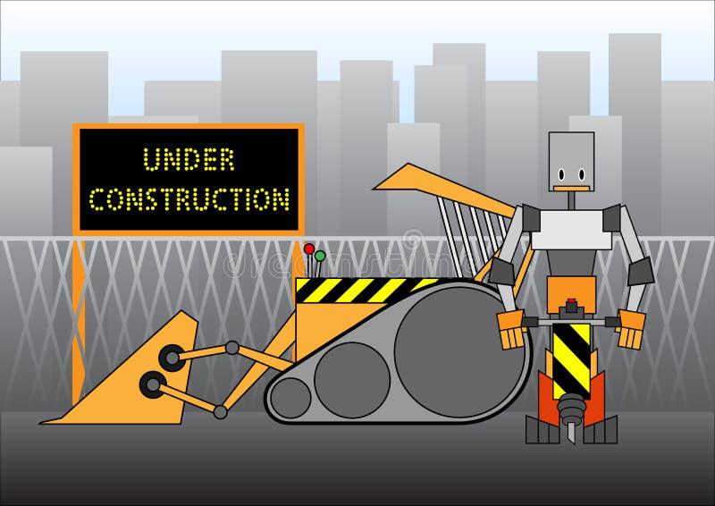 In aanbouw stock illustratie