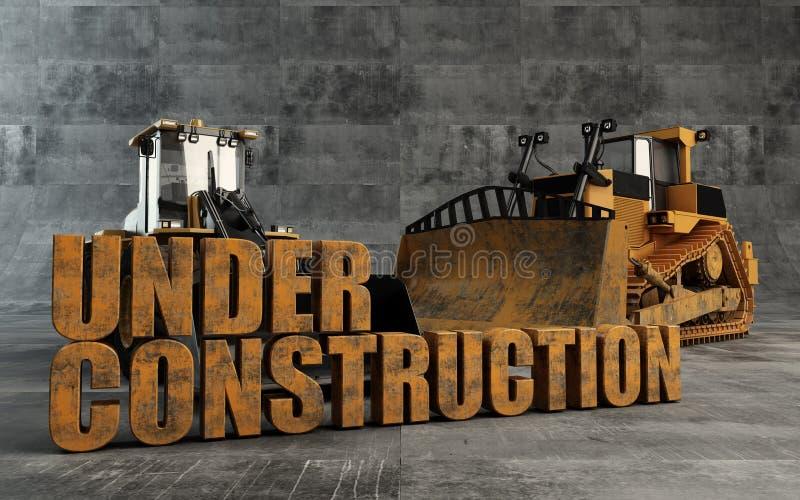 In aanbouw achtergrond