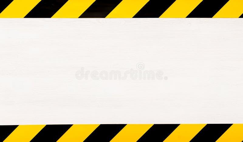 In aanbouw conceptenachtergrond De band van de waarschuwing stock illustratie