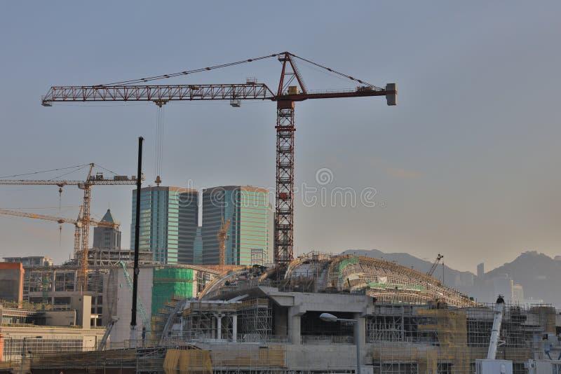 In aanbouw de werken van Hong Kong stock fotografie
