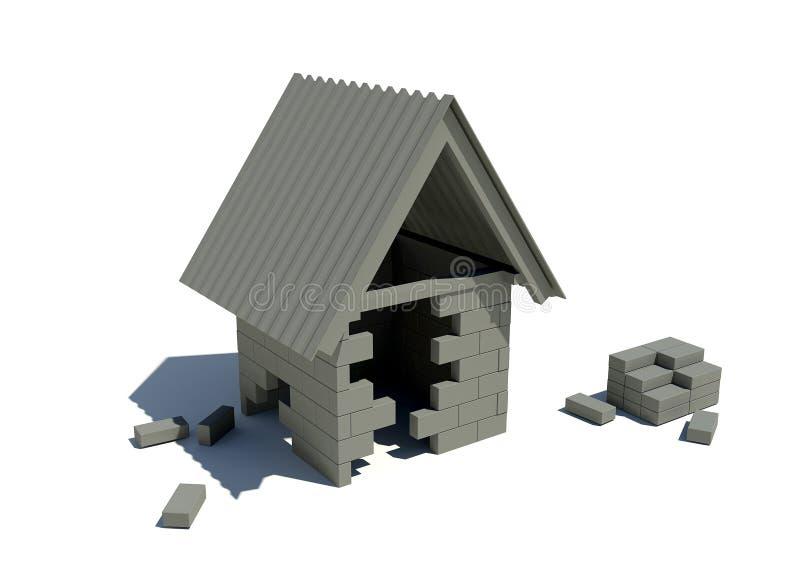 In aanbouw Huis stock illustratie