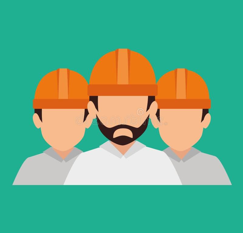 In aanbouw ontwerp stock illustratie