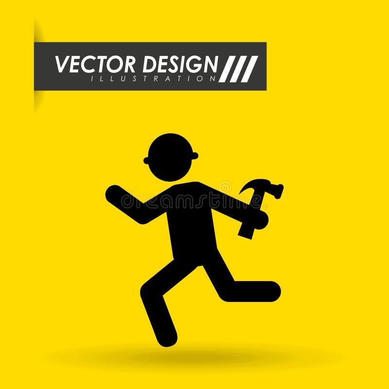 In aanbouw ontwerp vector illustratie