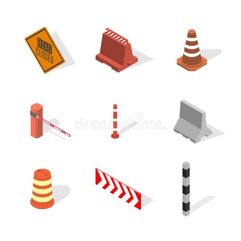 In aanbouw ontwerpelementen in 3D, vectorillustratie stock illustratie