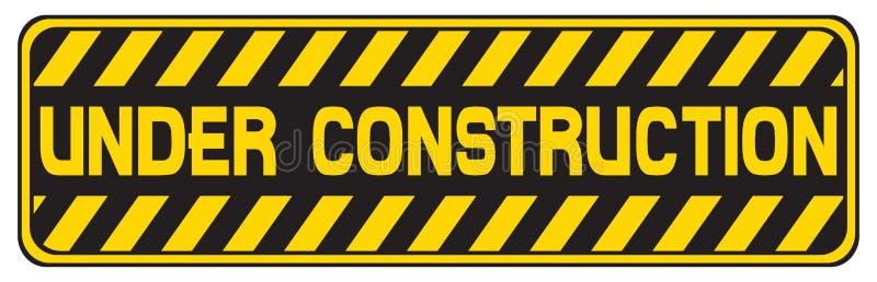 In aanbouw teken stock illustratie