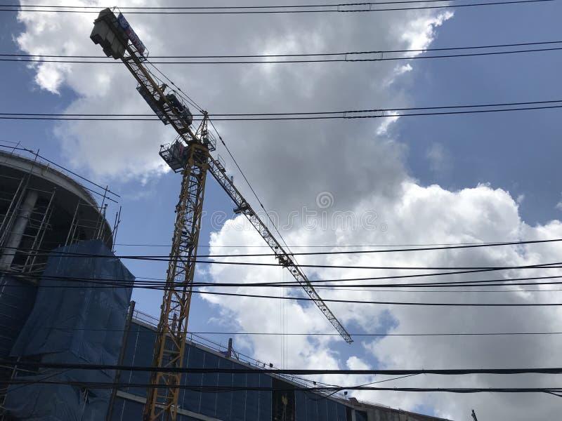 In aanbouw van de nieuwe van Bedrijfs koningsPower bouw stock afbeeldingen