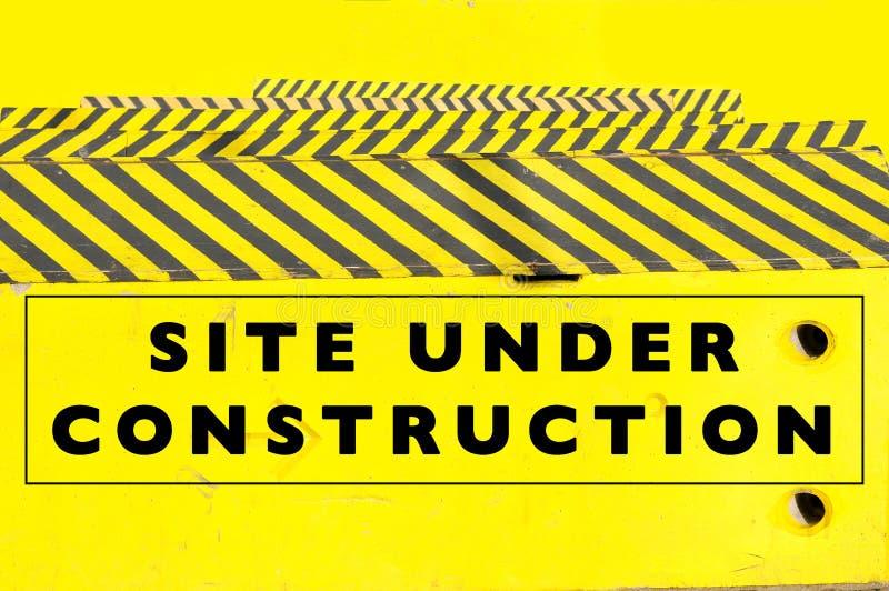 In aanbouw Web-pagina of websitebanner royalty-vrije stock foto