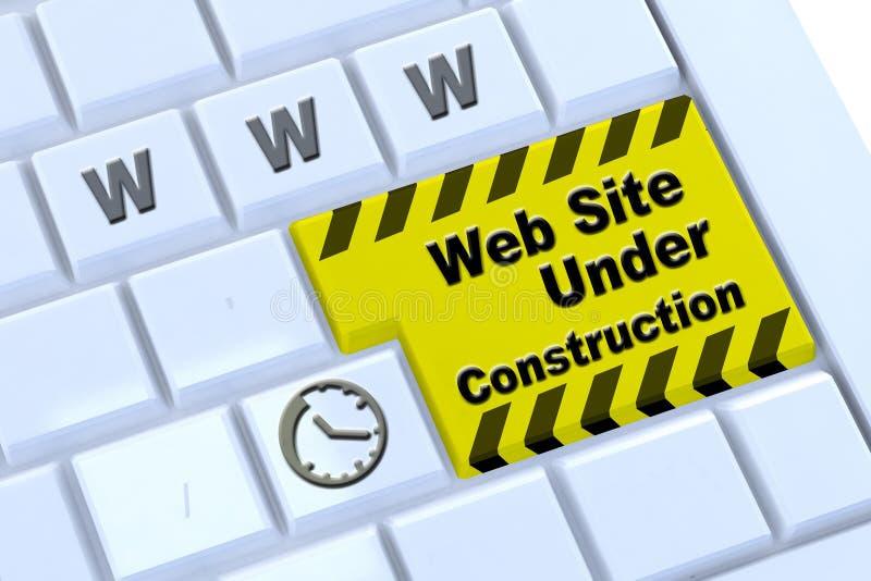 In aanbouw website royalty-vrije stock foto