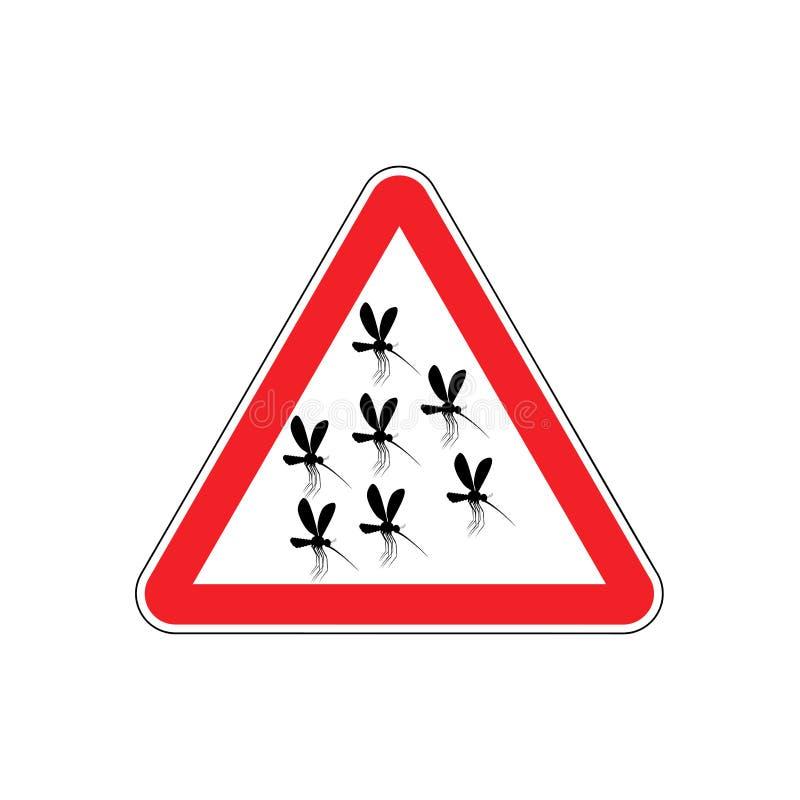 Aandachtsmug mug in Rode Driehoek Waarschuwingsverkeersteken royalty-vrije illustratie